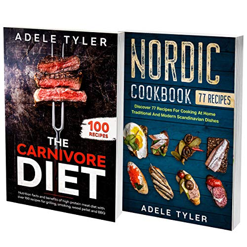 Vikings Recipes Cookbook: 2 Books In 1: Explore Over 150 Meat Recipes For Nordic And Scandinavian Dishes (English Edition)