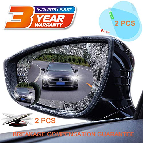 Ahaamazing Blind Spot Mirror Car Rear View Mirror Film Waterproof Convex Rear View Mirror Blind Spot Mirror HD Glass Frameless Adjustable Round Car Accessories for Cars Trucks Van Motorcycles (Round)