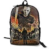 Mochila oficial de Halloween Michael Myers para el colegio, el trabajo y la universidad, mochila...