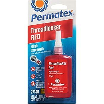 Permatex 27140 High Strength Threadlocker Red 36 ml Bottle