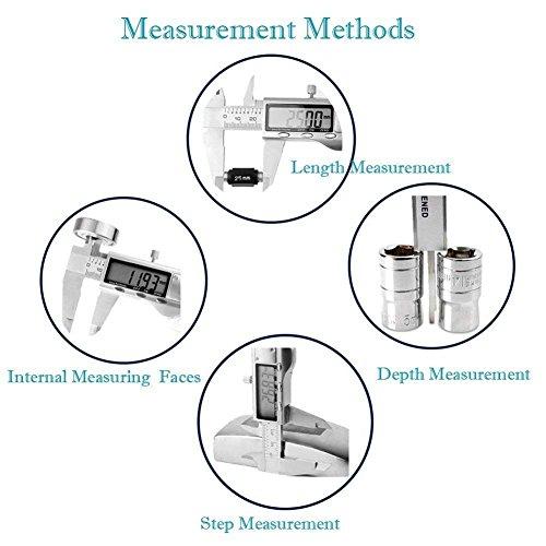 LOUISWARE Professionnel Numérique Caliper Pied à Coulisse de 150mm Précision Digital en Acier inoxydable Outil Micromètre Vernier avec Ecran d'affichage LCD