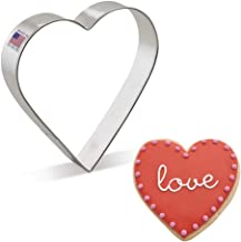 """Ann Clark Cookie Cutters Extra Large Heart Cookie Cutter, 5"""""""