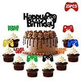 Video Gaming Party Cake & Cupcake Toppers Gamer Party Supplies Video Game Themed Birthday decorations Game Fans Party Favors