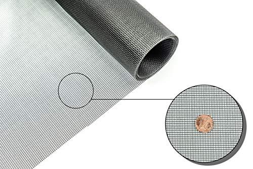 Fliegengitter Gewebe Insektenschutzgewebe für Fenster und Türen Rollenware 1,50 x 5,0 Meter schwarz Grundpreis/m² 3,46 Euro
