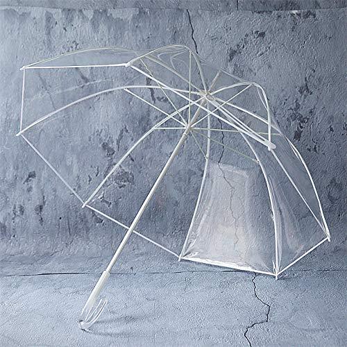 Umbrella YXLZ transparante paraplu | grote 92cm helder doorzichtige koepelparaplu voor vrouwen, bruiloft, bruidsfeest fotoshooting | lichte paraplu met transparante C-greep