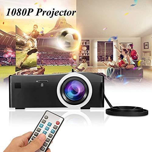 MOLEK Mini proyector LED 1080 Full HD proyector de vídeo compatible, 200