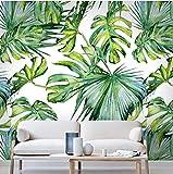 Feuillage vert clair en relief papier peint salon chambre murale papier peint 3D fond d'écran fond d'écran décoration de la maison(W)140cmx(H)100cm