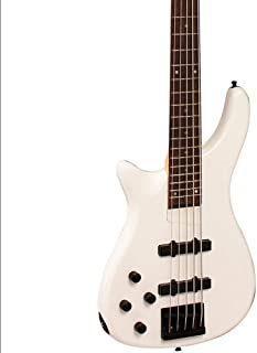 $215 Get 5-String Series III Electric Bass Guitar Pearl White