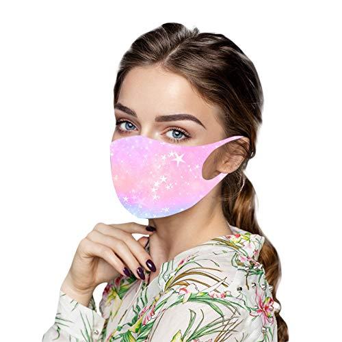 MEITING 1 Stück Adult Ice Silk Bandana,Staubdichter Weicher Stoff Schmetterling Bedruckt Mundschutz Atmungsaktives Elastisches Stirnband Geeignet Für Familienausflüge Und Sport