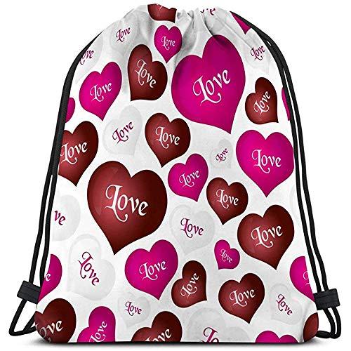BOUIA Trekkoord Tas Lichtgewicht kleur helium ballonnen hart vorm liefde valentine eps Vrij