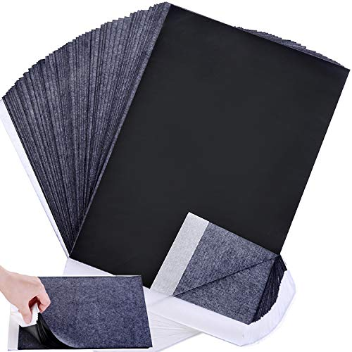 Offeara Carbon Paper, Black Graphite Transfer Tracing Paper for Wood, Paper, Canvas and Other Art Surfaces- 100 Sheets