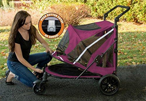 Pet Gear No-Zip Expedition Zipperless Entry Boysenberry Pet Stroller 9