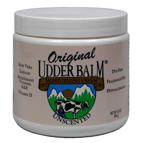 Unscented Original Udder Balm Moisturizing Cream 16oz Jar