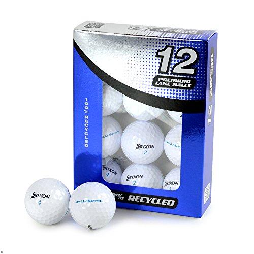 Second Chance Srixon Ultisoft 12 Premium - Pelotas de golf de grado A con bolsa de almacenamiento reutilizable, Unisex, Sri-UltiSoft-12-A, blanco