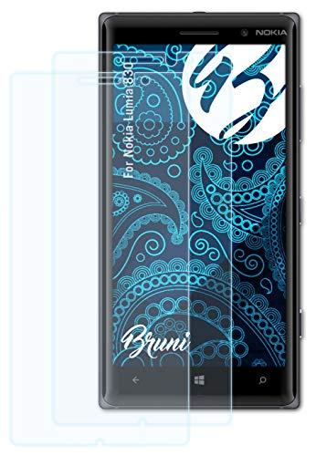 Bruni Schutzfolie kompatibel mit Nokia Lumia 830 Folie, glasklare Bildschirmschutzfolie (2X)