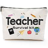 Teacher Survival Kit, Teacher Appreciation Gift for Women, Teacher Pencil Pouch, Teacher Gifts For Women, Preschool,Elementary,Waterproof Cosmetic Bag, High School makeup bags