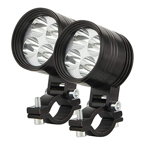 Foco de Motocicleta LED Tres Modos Hight/Low/Strobe Fous Lights 6000K Ultra-Bright Ultra-Long Range Suburban Subbarsights (Color : 4led 2pcs)