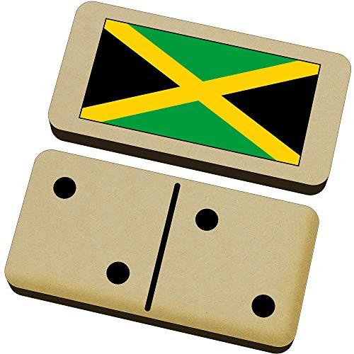 Azeeda 'Jamaika-Flagge' Domino-Spiel und Box (DM00020485)