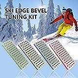 Iriisy Snowboard Borde Biselado Ajuste Kit, Los Granos Edge Afilador para Pulir Metal, Kit Mantenimiento Esqui Archivo Guía de Goma Bloque de Abrasivos