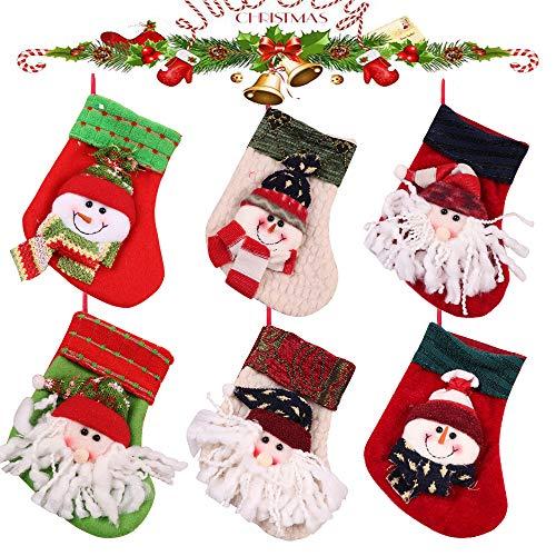 6 PCS Botas Navidad Decoración Chimenea