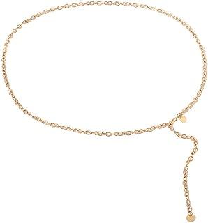 MEANIT Women Trendy Metal Link Waist Chain Waist Belt Long Tassel Belly Chains Waistbands Body Jewelry