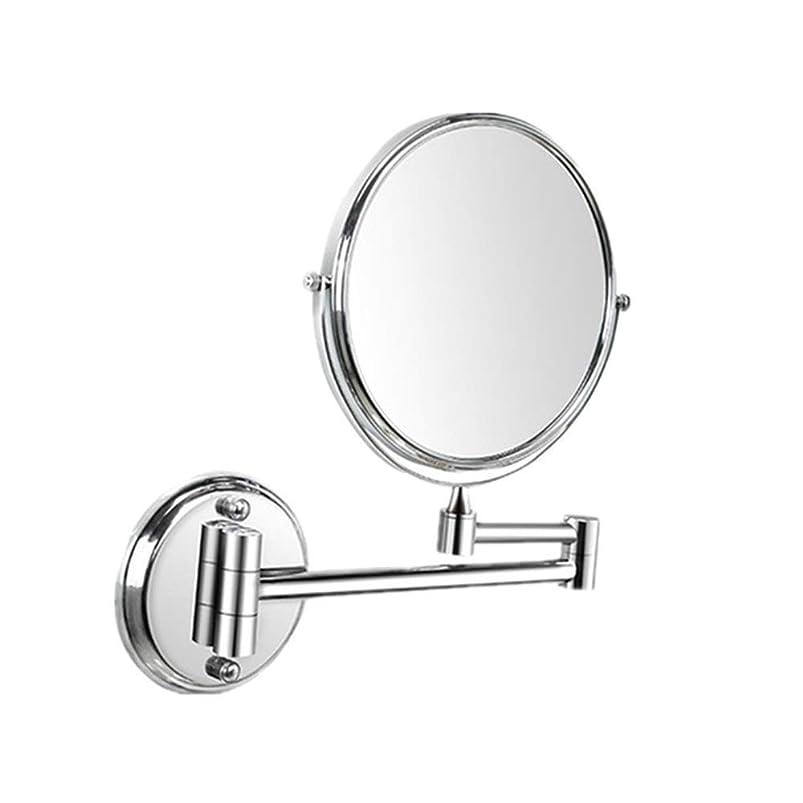 サンダル大臣若さ化粧鏡 LED照明付きメイクアップミラー両面バニティ通常の鏡と倍率360°スイベル化粧品ミラー クリスマス元旦のギフト (色 : Silve, サイズ : 6in)