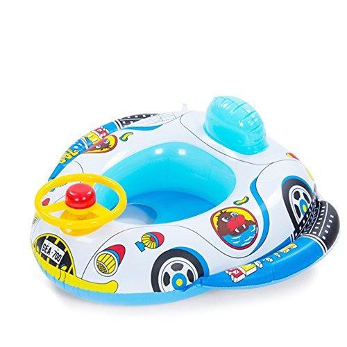 Vococal - Kinder Baby Sitz-Float-Boot Schwimmen Ring - Aufblasbarer Auto-Rad-Horn-Stil Schwimmen Ring