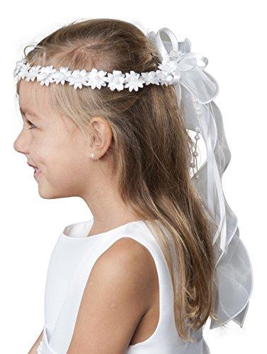 deine-Brautmode Haarkranz Kommunion Kommunionhaarkranz Haarschmuck Kranz Perlen Modell F5a