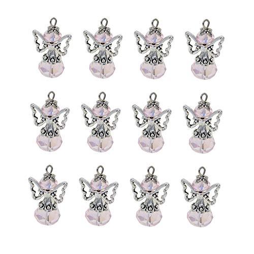 Baoblaze Perle Pendenti In Argento Tibetano In Argento Con Pendenti A Forma Di Angelo - Rosa, Come Descritto