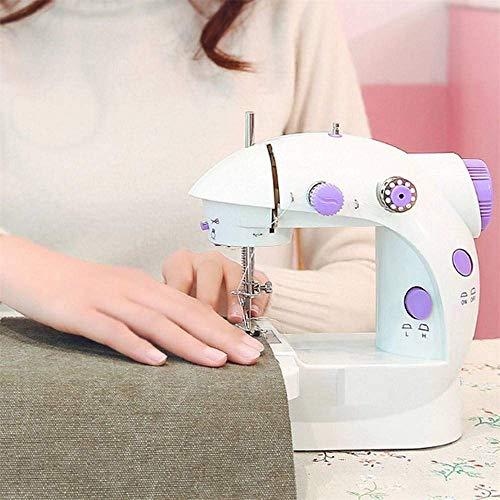 AIWKR Bewegende naaimachine, stil, draagbare eenregelige huishoudnaaimachine, inbouwlantaarn, gebruikt als doek, kleding, middenklasse