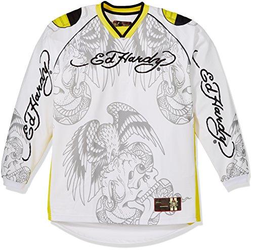 Ed Hardy EH150-03Y-XL Crash Test Longshirt, Größe : XL, Weiß/Gelb, Anzahl 1