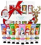 BRUBAKER Cosmetics Crema per le Mani Winter Wonder Gift Set 8 Pezzi per La Cura Delle Mani Secche - Crema Idratante con Urea e Burro di Karitè - Crema per La Cura Del Natale