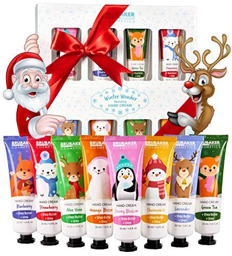 BRUBAKER Cosmetics Handcrème Winter Wonder Gift Set 8-Delige Verzorgingsset voor Droge Handen - Vochtinbren gen de Crème Met Ureum en Sheaboter - Kerstverzorgingscrème