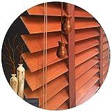 WENZHE Holzjalousie Jalousien Fenster Sichtschutz Holz Jalousette Rollos - Klinge 3,5cm / 5cm Sonnencreme Zuhause Balkon Dekoration -Größe Anpassbar (Color : 50mm, Size : 140x160cm)