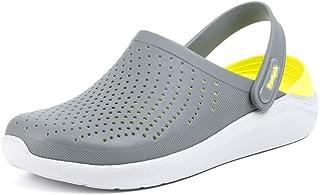 Zuecos Hombre Mujer Goma Transpirables Zapatos da Jardin Plastico Classic Sandalias Playa Casa Cómodo Verano Negro Blanco ...
