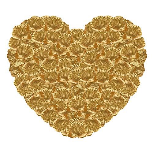 Gowsch - Pétalos de Rosa de Seda Artificial para Boda, San Valentín, casa, Fiesta, decoración de Boda, decoración Nupcial