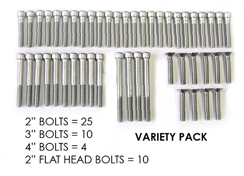 """Escape Climbing 49 Stainless Steel Bolt Variety Pack 
