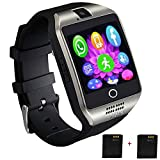 Smartwatch Unlocked Watch Cell Phone All in 1 Wireless Smart Watch with Camera Handsfree Call for Samsung LG HTC Motorola Huawei Xiaomi and Other Android Smartphones Sports Watch for Men Women Wife