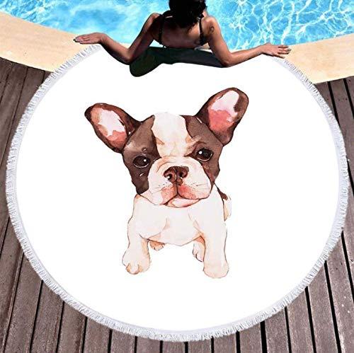 Toalla de Playa Redonda Grande Manta de Playa Toalla de Piscina Toalla de natación Estera de Yoga Alfombra de Picnic