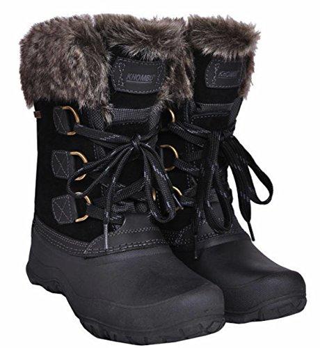 Khombu Womens The Slope Winter Snow Boots Black (7)