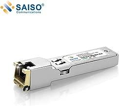 SAISO SFP to RJ45 Copper Module - 10/100/1000BASE-T Auto-Negotiation Mini-GBIC Gigabit Transceiver for Mikrotic, up to 100m