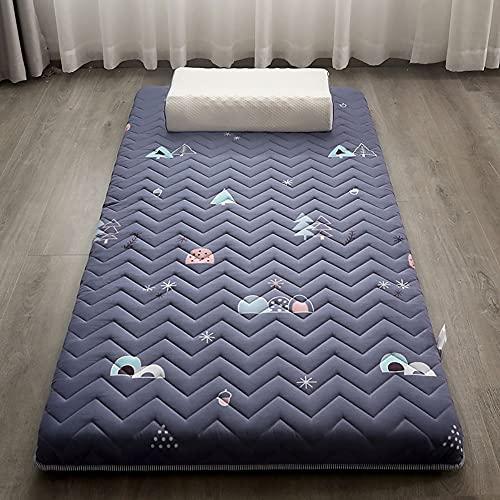 SBVDJ Cojín japonés grueso futón Tatami colchón, tapete de piso, 5,5 cm de espesor, cojín de colchón antideslizante, cama plegable, 120 x 200 cm