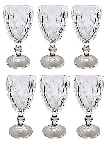 Vintage 6 Teile Set Romben Glanz 16-4 König Weinglas Glas Gläser Weingläser Wasserglas Longdrinkglas