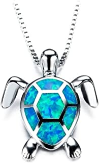 Beiswe Cute Turtle Pendant Necklace Lovely Animals White...