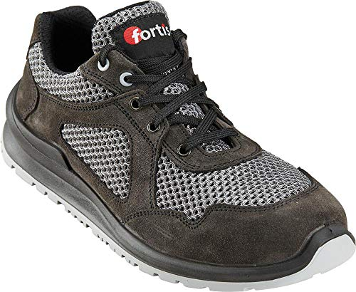 Fortis unisex werkschoen veiligheidsschoen halve schoen S1P SRC ademend grijs, schoenmaat Werkschoenen: 48