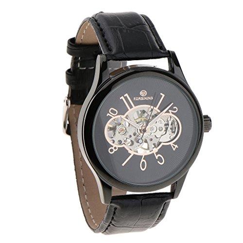 SM SunniMix Relojes Reloj de Pulsera Mecánico Automático Correa Esfera de Acero Inoxidable - #2
