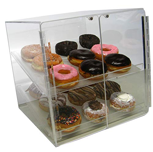 Self Serve Pastry or Donut Display Case 2 Trays for Deli Bakery Convenience Stores Display Bagel cakes and Keeps Fresh