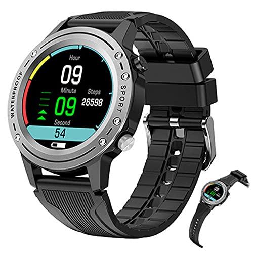 APCHY Smart Watch Men, Bulit Rastreador de Fitness en Posición de Movimiento GPS 1.28'Pantalla táctil Completa con Llamada Bluetooth Tipo de corazón Monitor de sueño Sombrero de podómetro,Plata