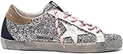 Golden Goose Deluxe Brand Superstar Women Sneakers with Glitter Upper and White Star G35WS590.R44