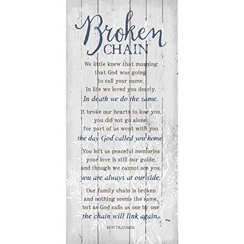 Dexsa Broken Chain 6 x 9 Wood Plank Look Wall Art Plaque